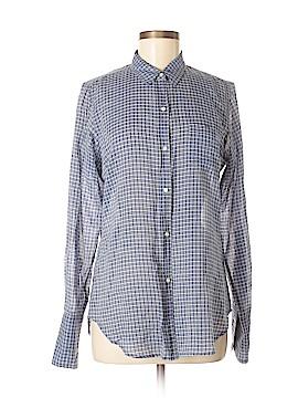 Nili Lotan Long Sleeve Button-Down Shirt Size M