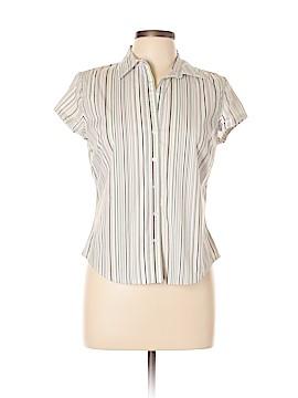 Ann Taylor Factory Short Sleeve Button-Down Shirt Size 10 (Petite)