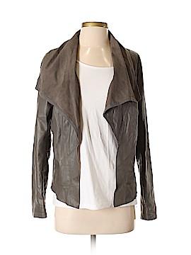 DKNY Jeans Leather Jacket Size S