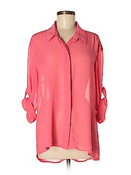Elan Long Sleeve Button-Down Shirt Size L