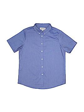 Lands' End Short Sleeve Button-Down Shirt Size 14