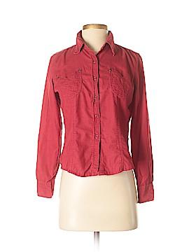 Gloria Vanderbilt Long Sleeve Button-Down Shirt Size S (Petite)