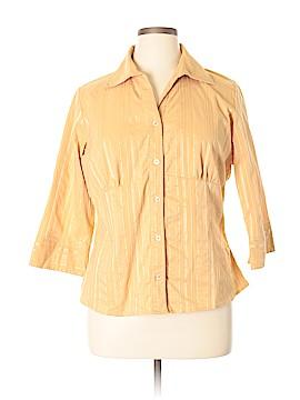 George & Martha 3/4 Sleeve Blouse Size 1X (Plus)
