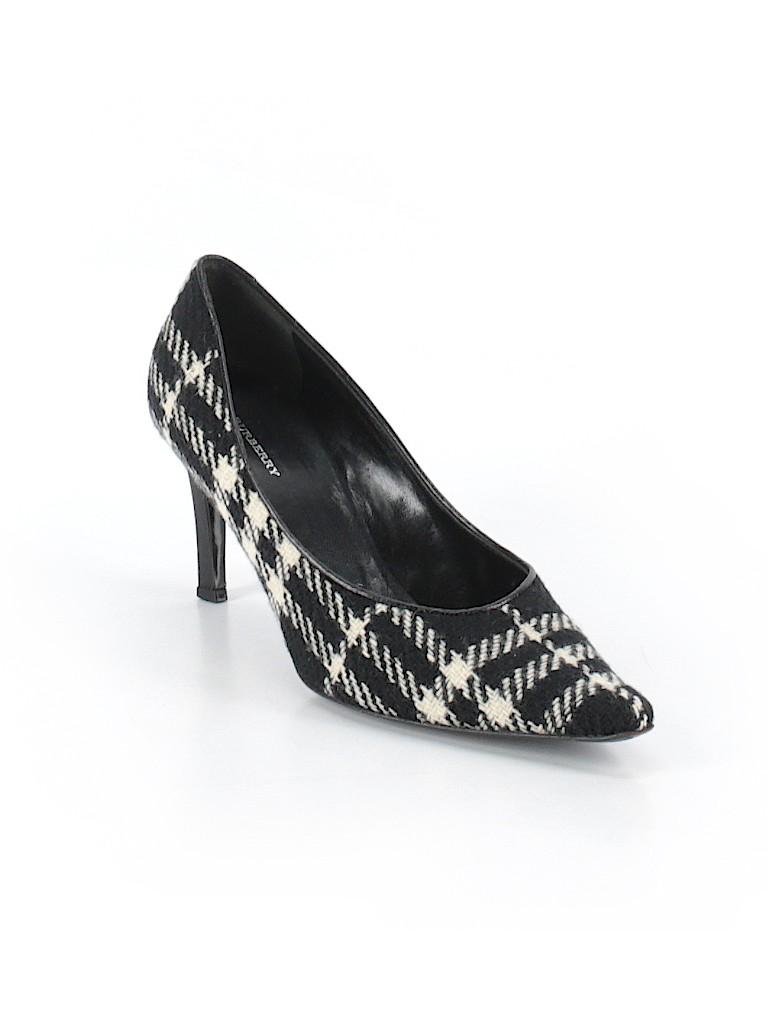 ec427e44f56 Burberry Plaid Black Heels Size 39.5 (EU) - 88% off