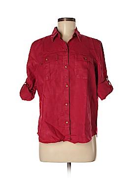 Lauren by Ralph Lauren Long Sleeve Button-Down Shirt Size L (Petite)