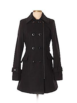 Black Rivet Wool Coat Size XS