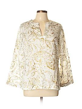 Lauren Conrad Long Sleeve Blouse Size L (Petite)