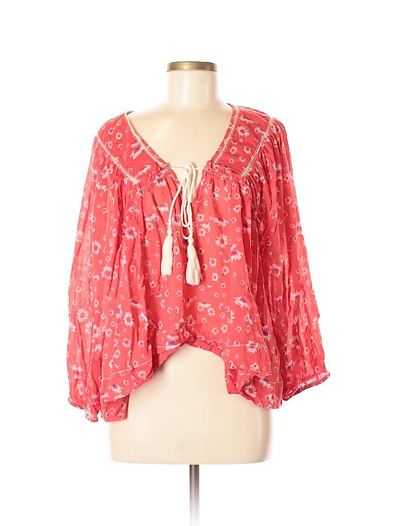 Free People Women 3/4 Sleeve Blouse Size M