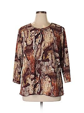 Serengeti 3/4 Sleeve Top Size 1X (Plus)