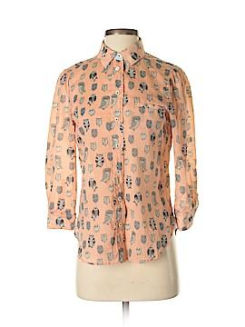 HD in Paris 3/4 Sleeve Button-Down Shirt Size 2