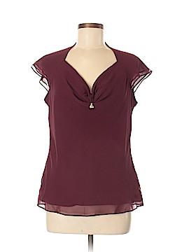 St. John Short Sleeve Silk Top Size 8