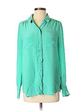 J. Crew Factory Store Long Sleeve Silk Top Size M