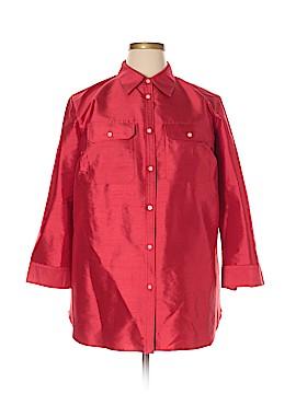 Lauren by Ralph Lauren 3/4 Sleeve Silk Top Size 1X (Plus)