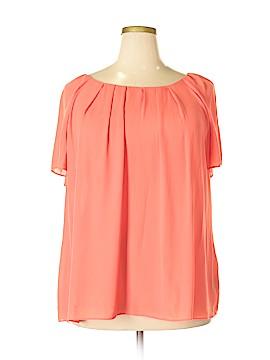 Worthington Short Sleeve Button-Down Shirt Size 2X (Plus)