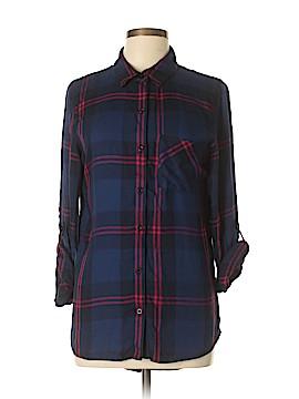 Alya Long Sleeve Button-Down Shirt Size M