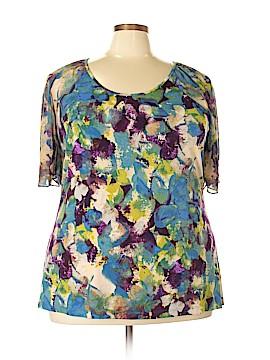 Susan Lawrence Short Sleeve Top Size 3X (Plus)