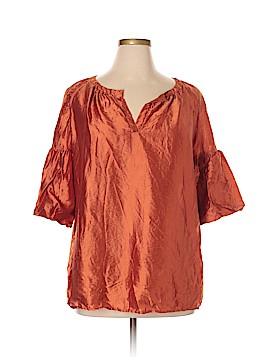 Talbots 3/4 Sleeve Silk Top Size 1X (Plus)