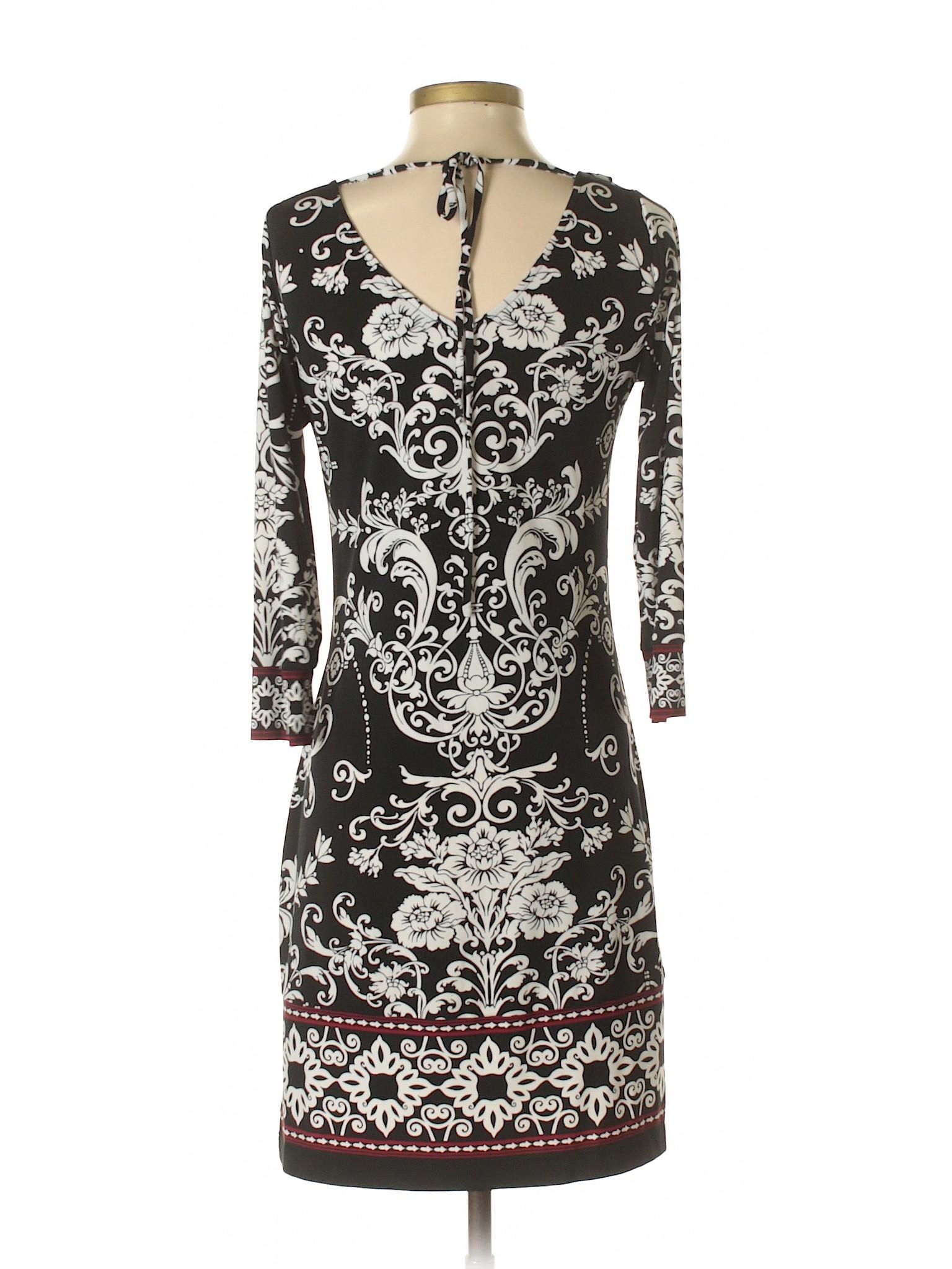 Dress winter Black White House Boutique Market Casual 0Uqzw8S