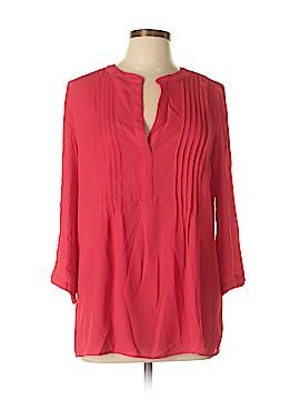 Joan Vass New York 3/4 Sleeve Blouse Size L