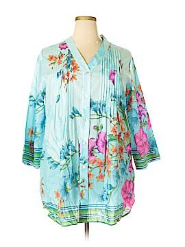 Soft Surroundings Long Sleeve Button-Down Shirt Size 1X (Plus)