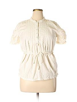 Adidas Stella McCartney Short Sleeve Button-Down Shirt Size L