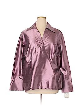 Sunny Leigh Long Sleeve Silk Top Size 22 (Plus)