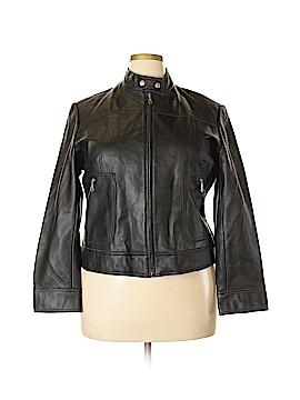 Bandolino Leather Jacket Size 1X (Plus)