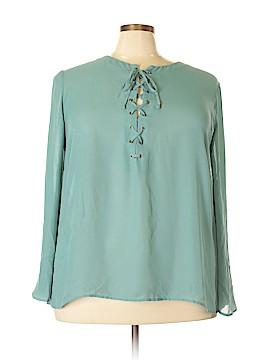Catherine Malandrino Long Sleeve Blouse Size 22 - 24 (Plus)