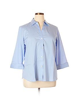 Foxcroft 3/4 Sleeve Button-Down Shirt Size XL