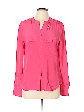 Joe Fresh Long Sleeve Silk Top Size L