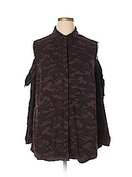 Rock & Republic Long Sleeve Button-Down Shirt Size 1X (Plus)
