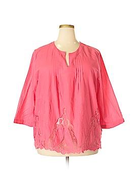 Saint Tropez Long Sleeve Blouse Size 2X (Plus)