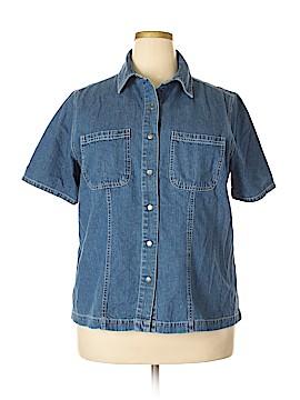 Genuine Sonoma Jean Company Short Sleeve Button-Down Shirt Size 1X (Plus)
