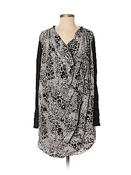 DKNY Long Sleeve Silk Top Size S (Petite)