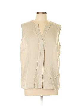 Grace Elements Sleeveless Button-Down Shirt Size 1X (Plus)