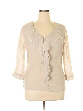 Unique 3/4 Sleeve Blouse Size XL