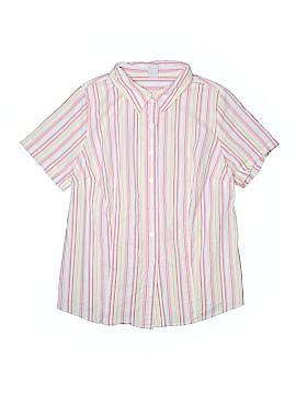 Bobbie Brooks Short Sleeve Button-Down Shirt Size 1X (Plus)