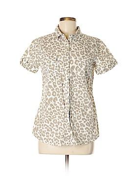 Garnet Hill Short Sleeve Button-Down Shirt Size 8