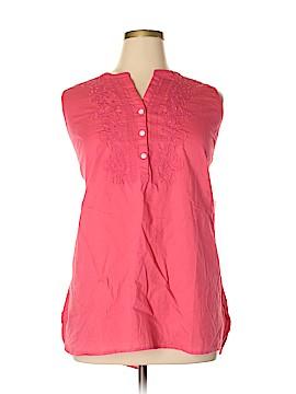 Croft & Barrow Sleeveless Button-Down Shirt Size 2X (Plus)