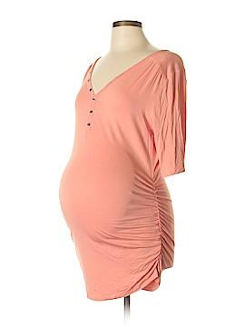 Motherhood Short Sleeve Henley Size L (Maternity)