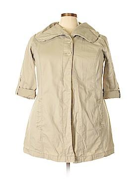 French Cuff Trenchcoat Size 2X (Plus)