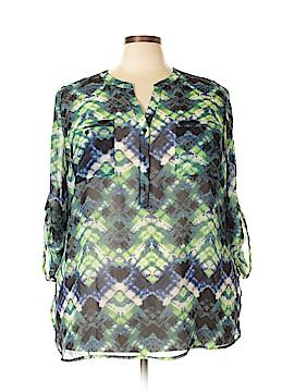 Como 3/4 Sleeve Blouse Size 2X (Plus)