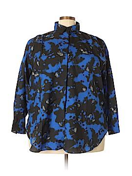 Diane von Furstenberg Long Sleeve Blouse Size 20 (Plus)