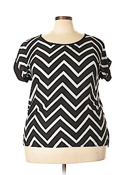 Eyeshadow Short Sleeve Blouse Size 1X (Plus)