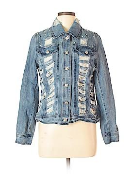 Midnight Velvet Denim Jacket Size M