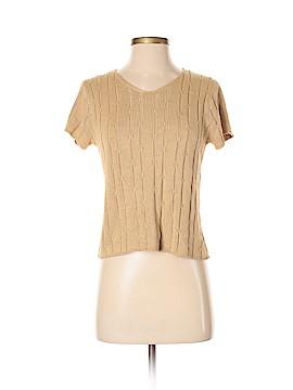Adrienne Vittadini Short Sleeve Silk Top Size S (Petite)