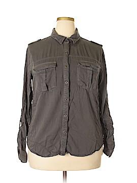 Love, Fire Long Sleeve Button-Down Shirt Size XXL