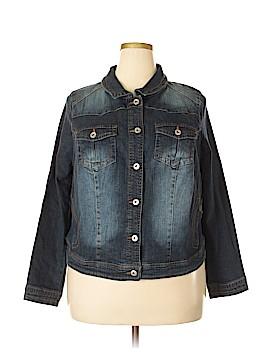 One World Denim Jacket Size 2X (Plus)