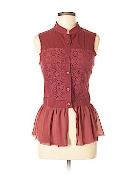 BKE Sleeveless Button-Down Shirt Size M