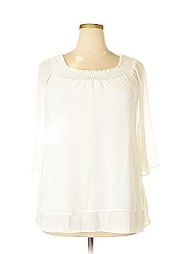 DR2 3/4 Sleeve Blouse Size 1X (Plus)